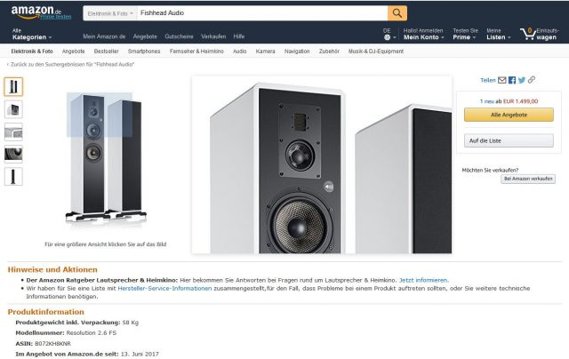 Fishhead Audio bei Amazon