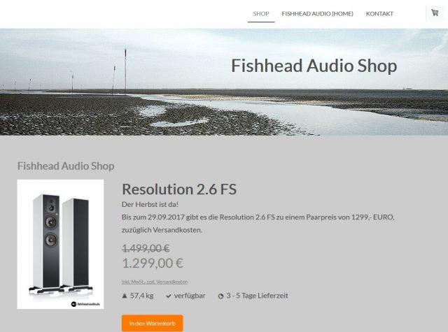 Im Herbst bei Fishhead Audio